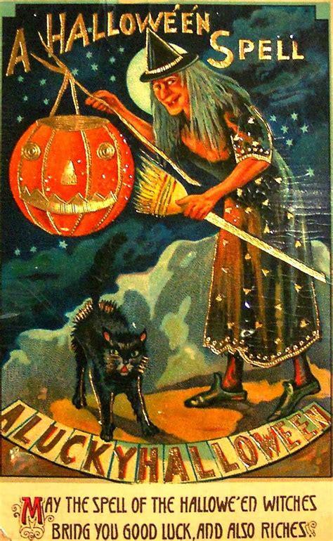 printable halloween vintage postcards vintage halloween witch postcards c 1900 s vintage