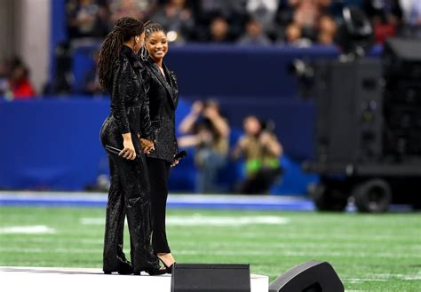 chloe and halle bailey national anthem chloe x halle quot america the beautiful quot 2019 super bowl