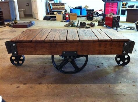 antique warehouse cart coffee table we can do it yes