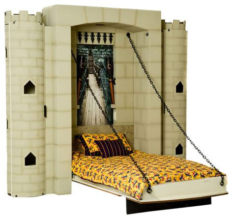 dragonslayer castle theme wall bed twin eclectic kids