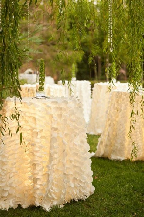 table covers for weddings anyone where i can order feathered table linens or