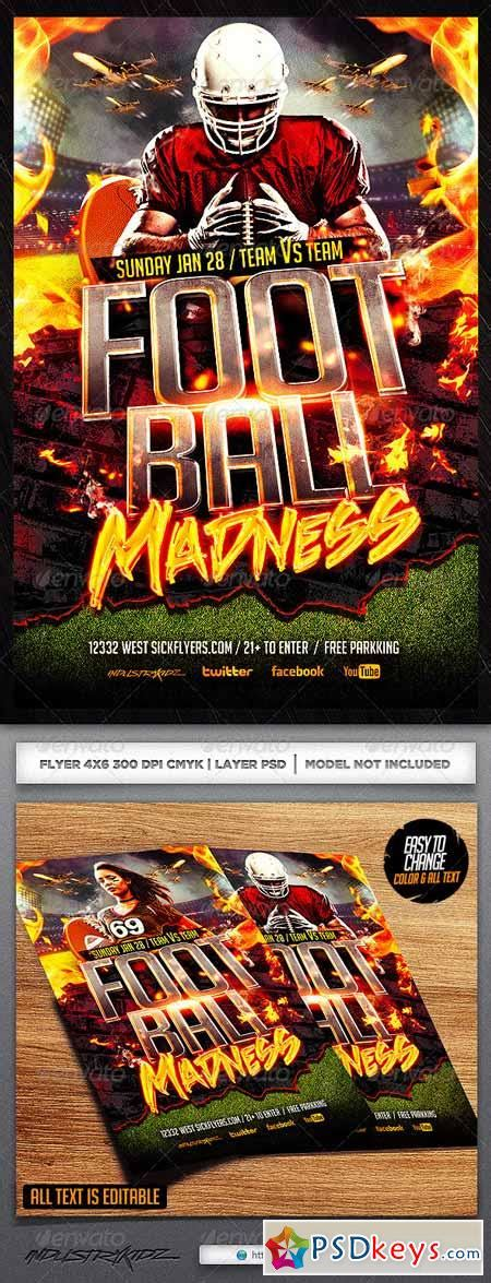 Football Madness Flyer Template 6492568 187 Free Download Photoshop Vector Stock Image Via Torrent Madness Flyer Template