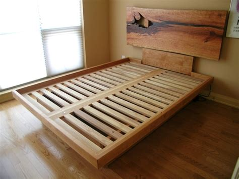 custom platform bed   edge headboard drawers