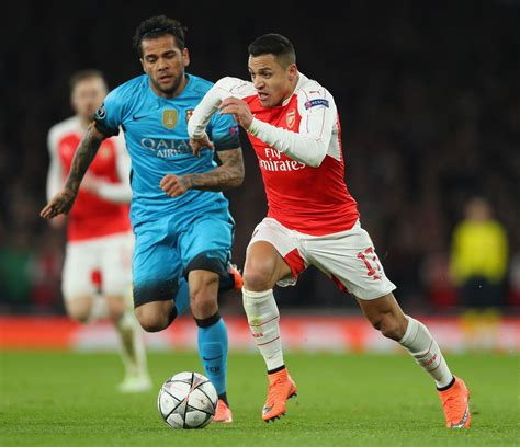 barcelona uefa chions league alexis sanchez photos photos arsenal fc v fc barcelona