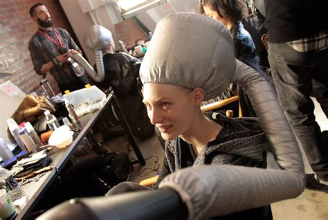 Hair Dryer You Sit a glimpse of fashion week 2012 photos the big picture