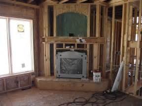 corner fireplace installed post at ownerbuilderbook