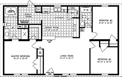 3 bedroom house plans in 1000 sq ft 1000 to 1199 sq ft manufactured home floor plans