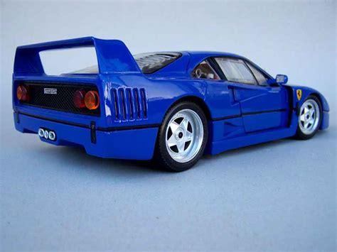 cars ferrari blue ferrari f40 stradale blue rfr sport burago diecast model