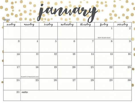 printable planner 2018 cute cute printable calendars 2018 monthly free january 2018