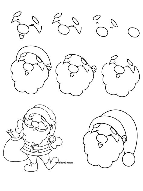 christmas pictures step by step simple drawing drawing gallery