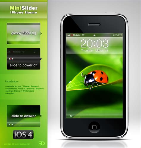 message themes for iphone 6 minislider iphone ios4 theme by benjamin dandic on deviantart