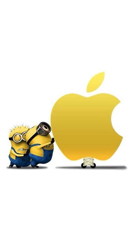 minions wallpaper for iphone 5 hd minions with apple logo iphone 6 6 plus and iphone 5 4