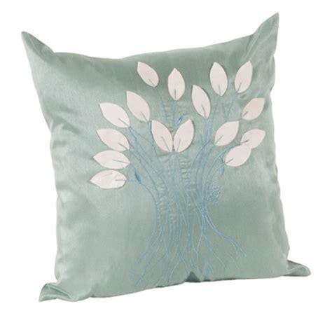 leaf design aqua decorative throw pillow everything