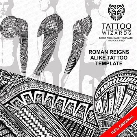 roman reigns tattoo reigns stencil template ebay