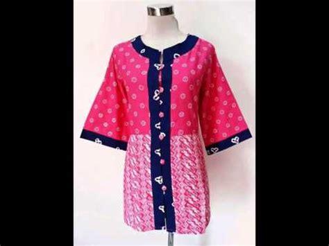 Blus Batik 1 baju kerja batik jumputan modern model blus larasati