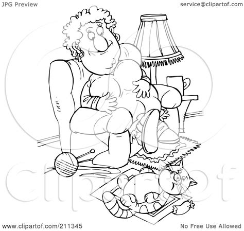 lazy person coloring page royalty free rf clipart illustration of a coloring page