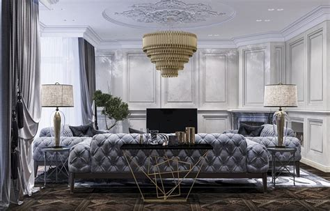 luxury design   neoclassical style  building