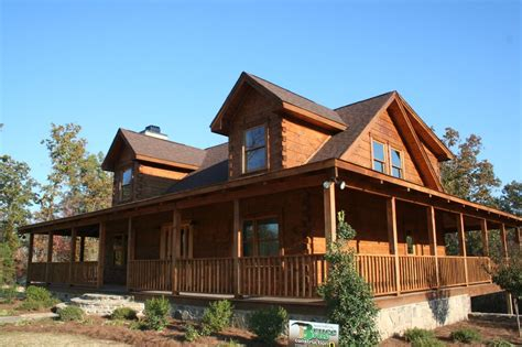 small log homes with wrap around porch