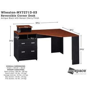 bush furniture wheaton reversible corner desk bush industries myspace wheaton reversible corner desk