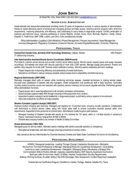 senior level resume sles information technology entry level resumes quotes