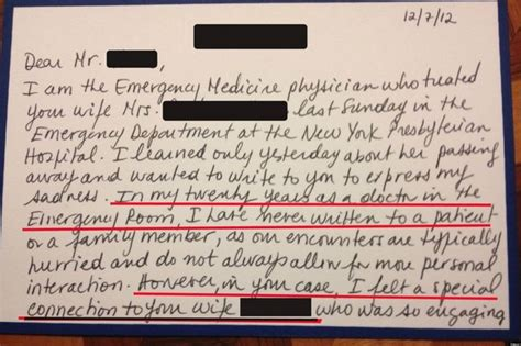 Patient Condolence Letter Letter From Er Doctor May Make You Tear Up Photo Huffpost