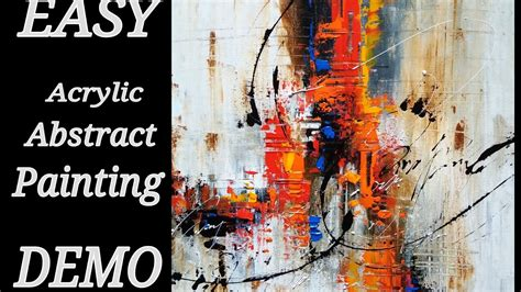 acrylic painting abstract demo abstract painting easy abstract painting in acrylics