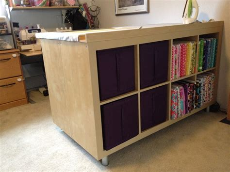 expedit sewing crafting cutting table ikea hackers