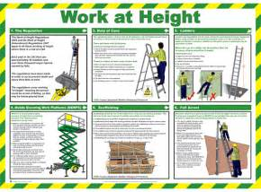 ladder safety poster with the characters from the simpsons