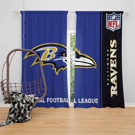 nfl baltimore ravens bedroom curtain ebeddingsets