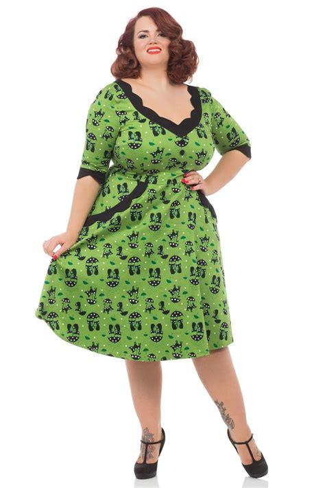 Branded Green Dress For And Size 7y Until 14y voodoo vixen cat green katnis dress 50s pinup rockabilly vintage plus size ebay