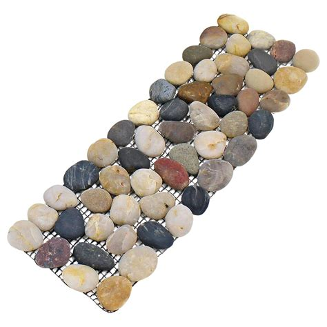 Pebble Tiles Bathroom 4 Pack Pebble Border Garden Plant Lawn Edging Stone Strips