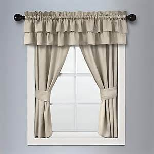 Bed Bath And Beyond Ruffle Shower Curtain - veratex vintage ruffle window curtain panel and valance