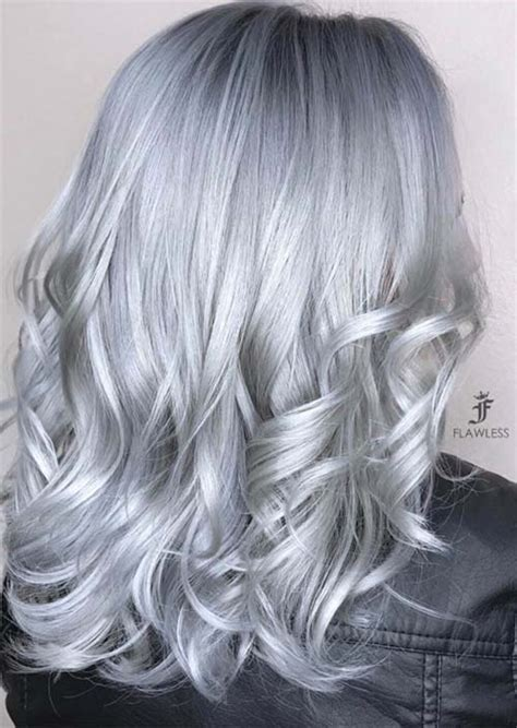 gray hair color shades silver hair trend 51 cool grey hair colors tips for