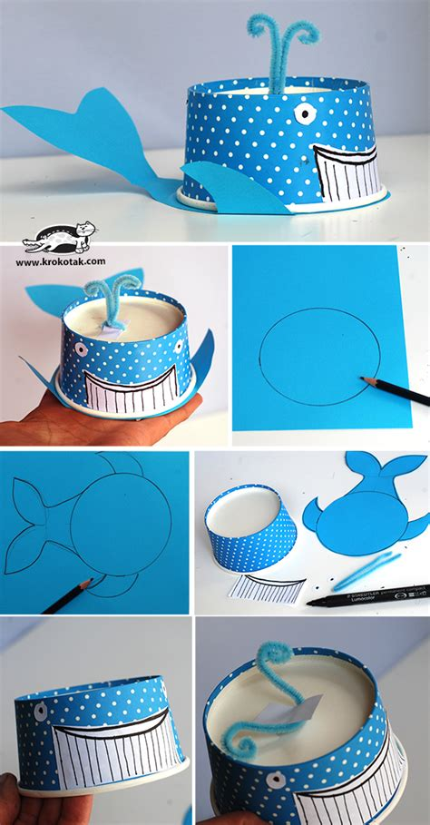 Paper Cup Craft - 70 creative sea animal crafts for creatures