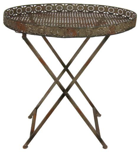 Outdoor Side Table Decorative Rustic Garden Tea Table Rustic Outdoor Side Tables By Furniture