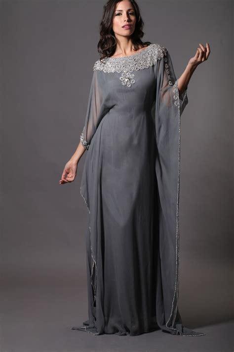 Kaftan One Souldel 1 gray beaded dubai morrocan style kaftans abaya jalabiya