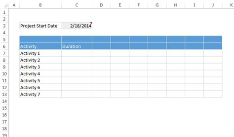 quick and easy gantt chart using excel templates