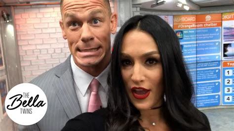 nikki bella today show behind the scenes of the today show with john cena and