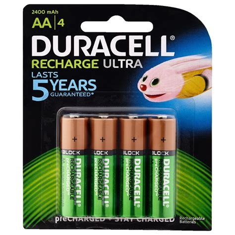 al a aa duracell aa rechargeable batteries 4 pack officeworks