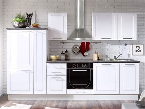 küchenblock weiß hochglanz kueche eiche und weiss