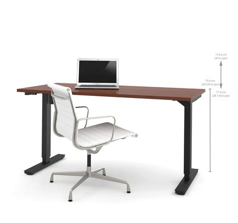 Height Adjustable Office Desk 60 Quot Sit Stand Electric Height Adjustable Office Desk In Bordeaux 28 Quot Computerdesk
