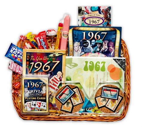 Wedding Anniversary Gift Baskets by 50th Wedding Anniversary Gift Basket With 1967 Sts
