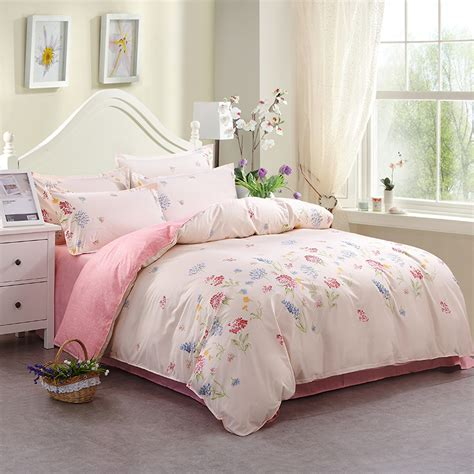 Pink And Black Bedding For Adults by Peony Flower Pattern Soft Polyester Duvet Covers Sets Pink