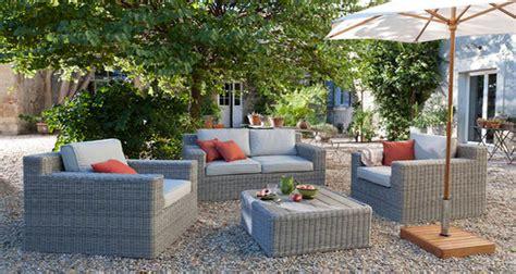 salon de jardin en rotin pas cher salon de jardin mobilier outdoor aluminium et rotin castorama