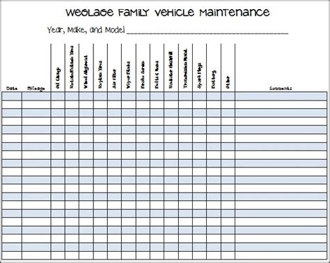 car service record template 25 best ideas about vehicle maintenance log on