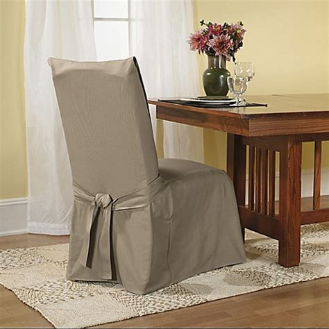 linen dining room chair slipcovers buy sure fit 174 duck supreme cotton dining room chair