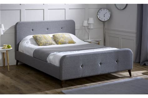 grey fabric bed frame limelight tucana 4ft6 double grey fabric bed frame by