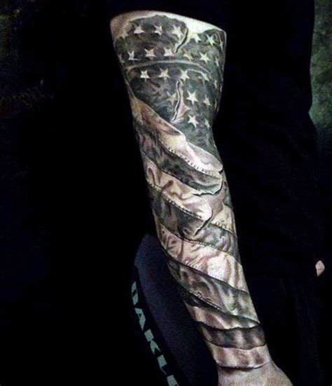 american flag tattoo sleeves top 60 best american flag tattoos for usa designs