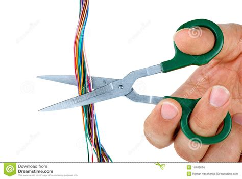 scissors cut wires stock images image 10402674
