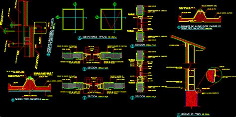 panel system dwg detail  autocad designs cad